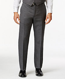 Lauren Ralph Lauren Grey Sharkskin Big and Tall Classic Fit Dress Pants