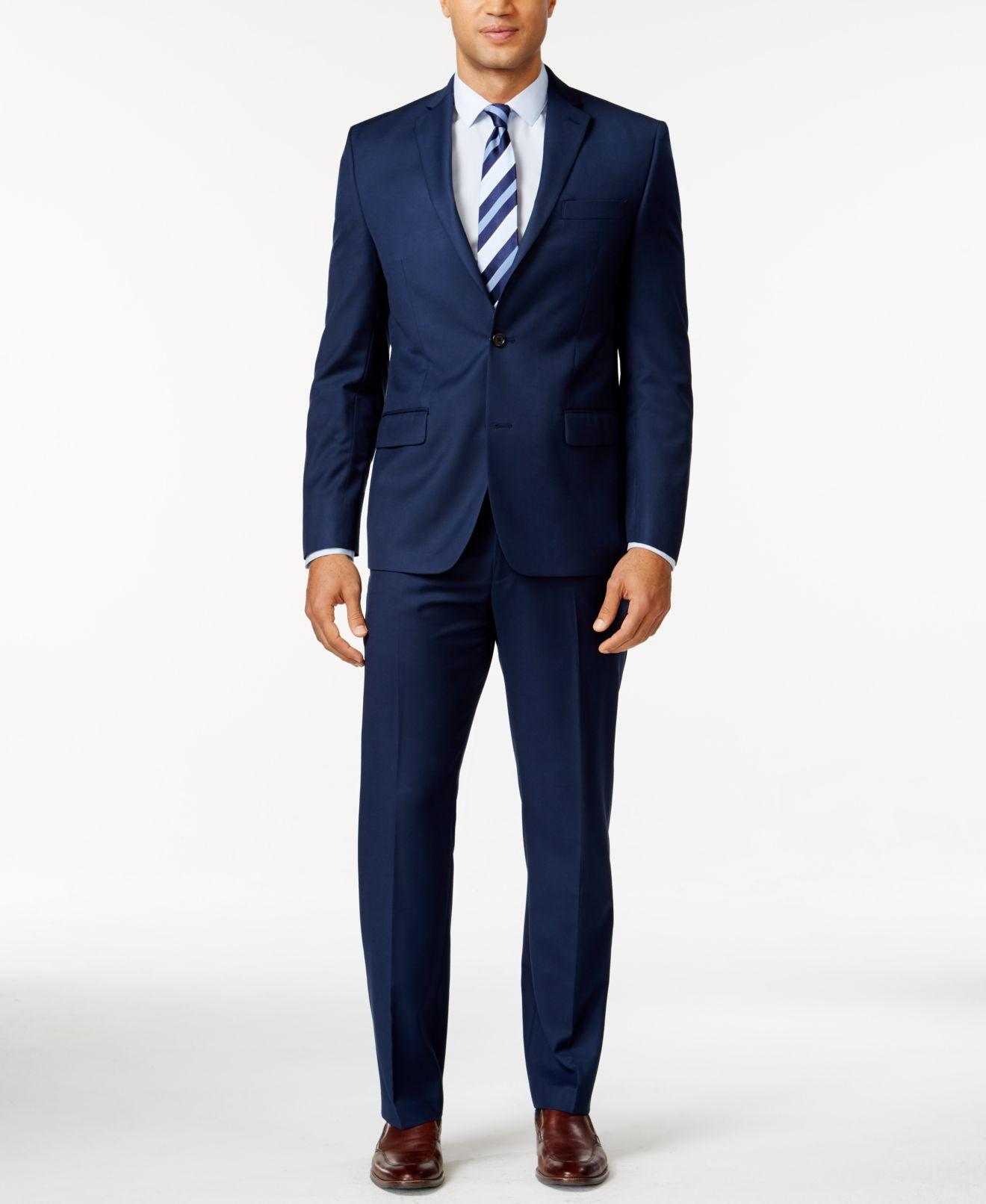 MICHAEL Michael Kors Blue Solid Classic-Fit Suit Separates - Suits ...