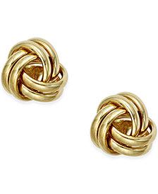 Small Love Knot Stud Earrings in 10k Gold