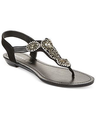 Madden Girl Tuzzie T-Strap Jeweled Sandals