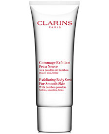 Get More! Receive a FREE Trial Size Exfoliating Body Scrub with $99 Clarins Purchase!