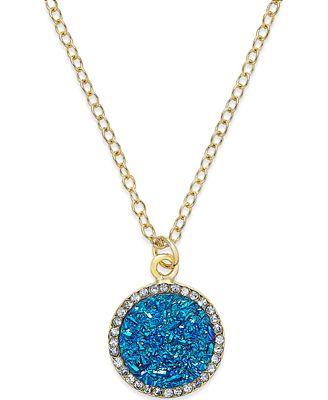 kate spade new york 12k Gold-Plated Glitter Pavé Pendant Necklace