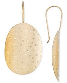 SIS by Simone I Smith Brushed Confetti Drop Earrings in 14k Gold over Sterling Silver