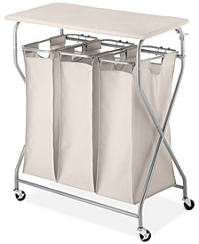 Easy-Lift Laundry Sorter & Ironing Table
