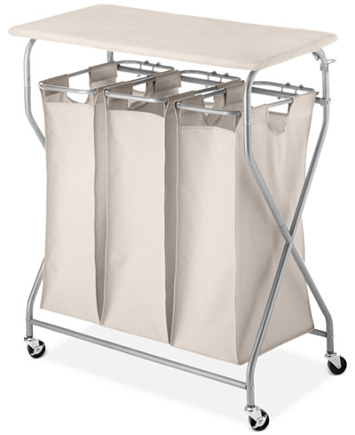 Whitmor Easy Lift Laundry Sorter Amp Ironing Table