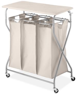 Whitmor EasyLift Laundry Sorter  Ironing Table