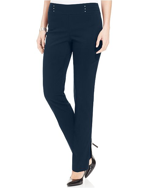 JM Collection Petite Studded Pull-On Pants, Regular & Short, Created for Macy's