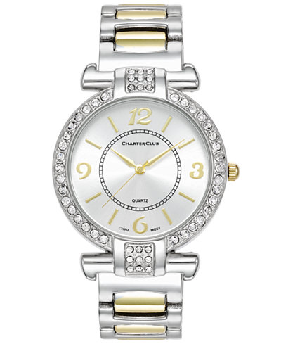 Charter Club Women's Two-Tone Bracelet Watch, 36mm, 16856, Only at Macy's
