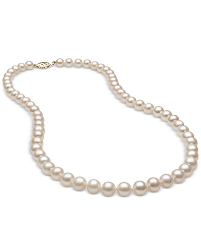 Belle de Mer Cultured Freshwater Pearl (6mm) Strand in 14k Gold