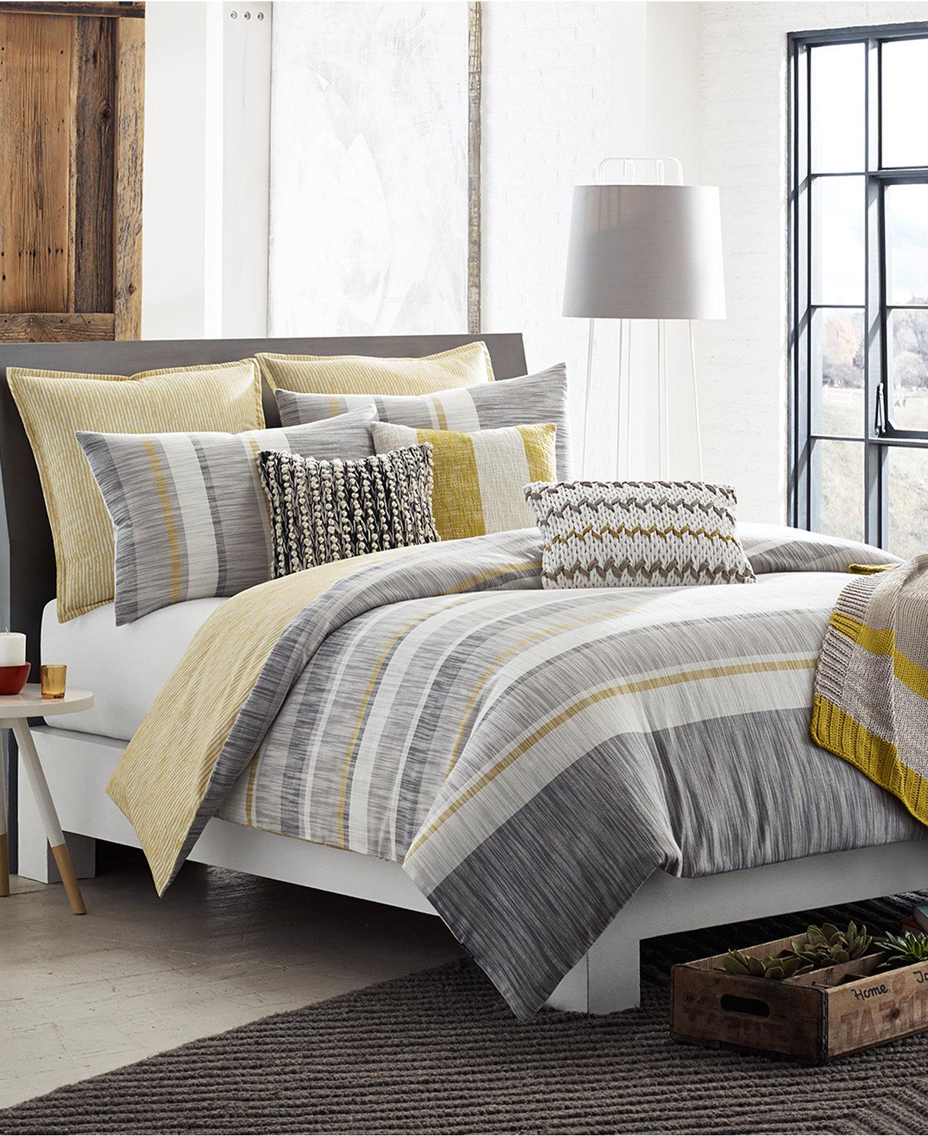 Yellow and grey bedding twin - Kas Room Logan Bedding Collection Collections Bed Grey Yellow