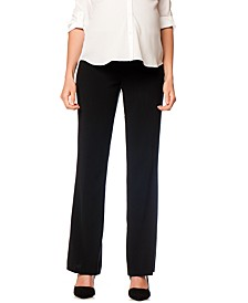 Petite Flared Stretch Dress Pants