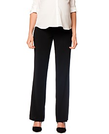 Motherhood Maternity Petite Flared Stretch Dress Pants