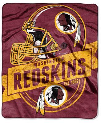 Northwest Company Washington Redskins Micro Raschel 40th Man Throw Cool Redskins Throw Blanket
