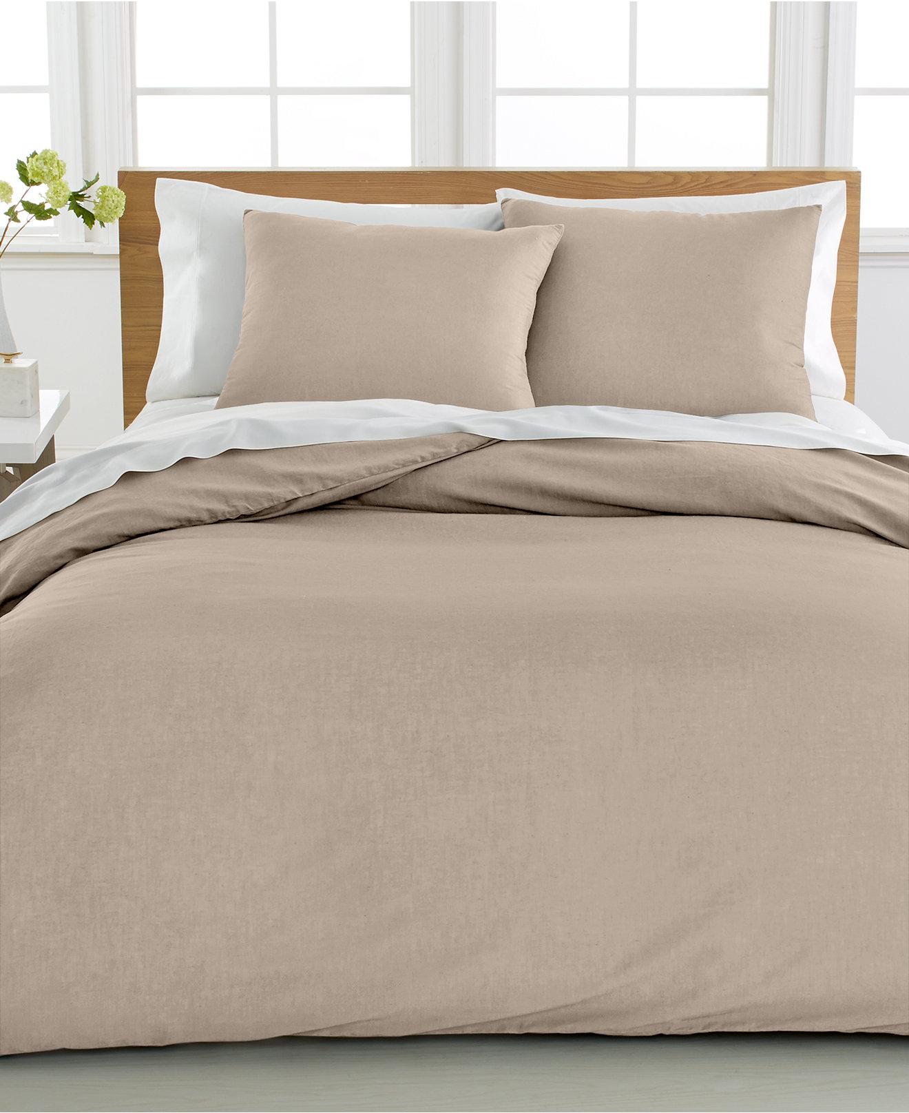 king size king  macy's - cotton linen duvet cover piece set