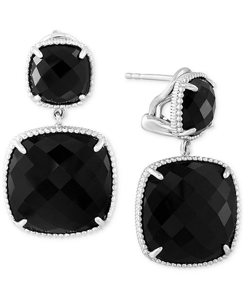 EFFY Collection EFFY® Onyx (17-2/5 ct. t.w.) Drop Earrings in Sterling Silver