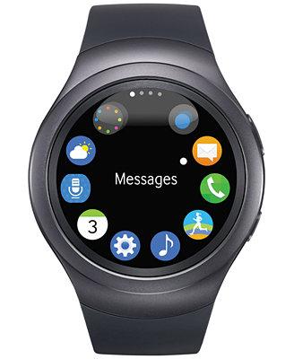Samsung Unisex Dark Gray Round Samsung Gear S2 Watch 42mm ...
