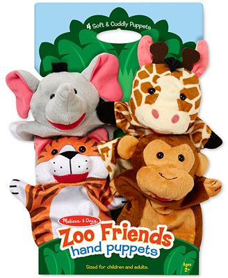 Melissa and Doug Kids' Zoo Friends Hand Puppets Set