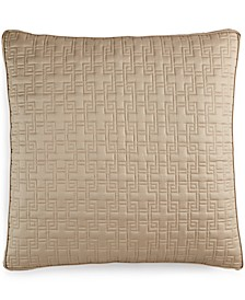 Embroidered Frame Quilted European Sham, Created for Macy's