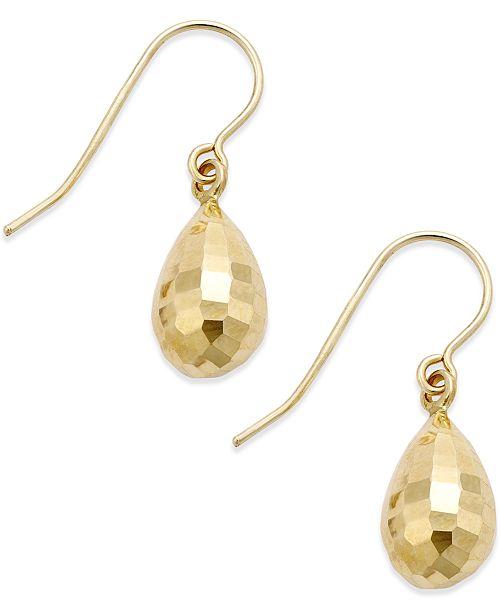 Macy's Mirrored Teardrop Earrings in 10k Gold