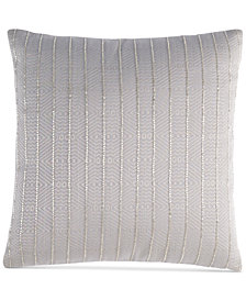 "Hotel Collection Keystone 16"" Square Decorative Pillow, Created for Macy's"