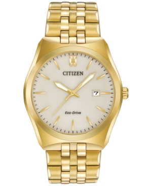 Citizen Men's Eco-Drive Gold-Tone Stainless Steel Bracelet