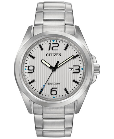 Citizen Men's Eco-Drive Stainless Steel Bracelet Watch 43mm AW1430-86A