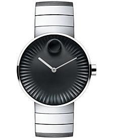 Movado Men's Swiss Edge Stainless Steel Bracelet Watch 40mm 3680006