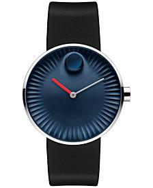 Movado Men's Swiss Edge Black Rubber Strap Watch 40mm 3680004