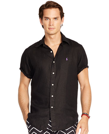 Polo ralph lauren short sleeved linen shirt casual for Polo ralph lauren casual button down shirts