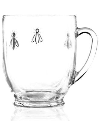 Glassware, Set of 6 Napoleonic Bee Mugs