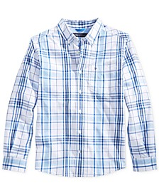 Ethan Plaid Button-Down Shirt, Little Boys