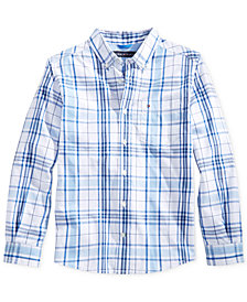 Tommy Hilfiger Ethan Long-Sleeve Woven Plaid Shirt, Big Boys