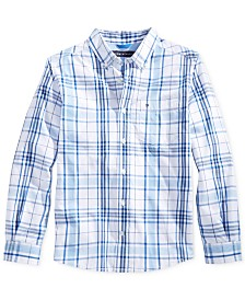 Tommy Hilfiger Ethan Plaid Button-Down Shirt, Little Boys