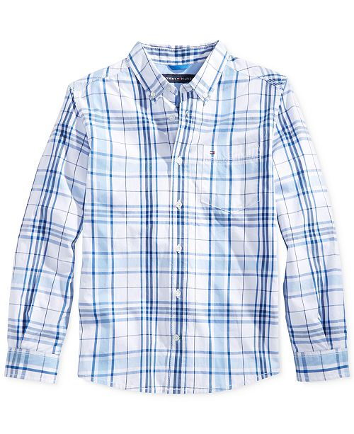 bbe155446 Tommy Hilfiger Ethan Plaid Button-Down Shirt, Toddler Boys & Reviews ...