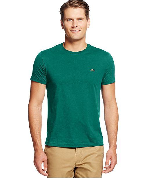 929937afcbc9d Lacoste Men s Crew-Neck Pima Cotton T-Shirt   Reviews - T-Shirts ...