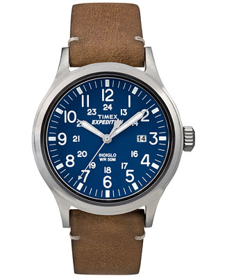 Timex Men's Expedition Scout Tan Leather Strap