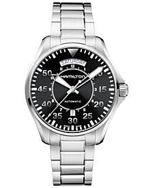 Men's Swiss Automatic Khaki Pilot Stainless Steel Bracelet Watch 42mm H64615135