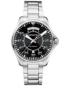 Hamilton Men's Swiss Automatic Khaki Pilot Stainless Steel Bracelet Watch 42mm H64615135
