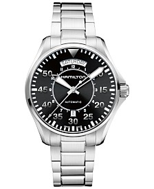 Hamilton Men's Swiss Automatic Khaki Pilot Stainless Steel Bracelet Watch 42mm H64615135