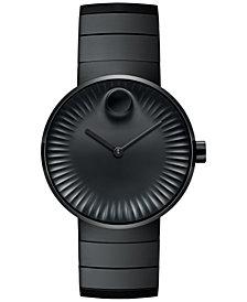 Movado Men's Swiss Edge Black PVD Stainless Steel Bracelet Watch 40mm 3680007