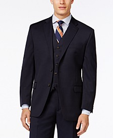 Solid Big and Tall Classic-Fit Wool Jacket