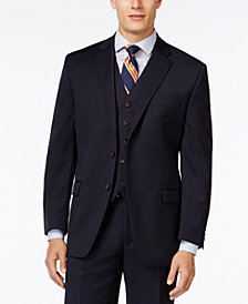 Lauren Ralph Lauren Solid Big and Tall Classic-Fit Wool Jacket