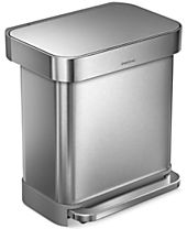 simplehuman Brushed Stainless Steel 30L Trash Can