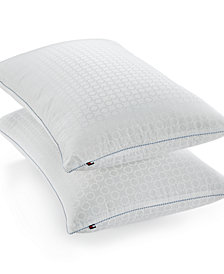 Tommy Hilfiger Home Corded Classic Down Alternative Firm-Density Standard/Queen Pillow, Hypoallergenic SupraLoft™ Fiberfill