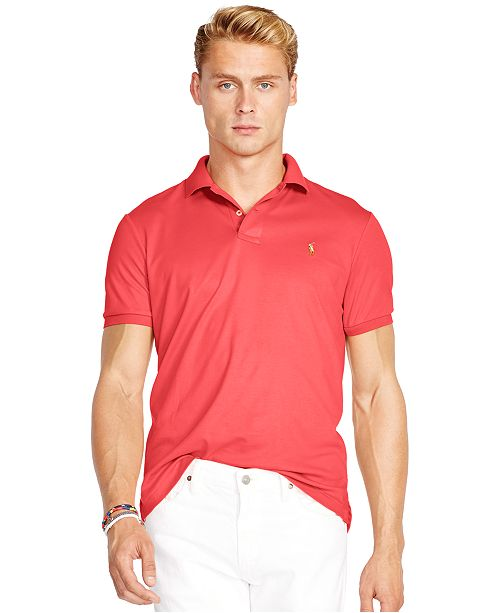 fd5fc4712e23f Polo Ralph Lauren Pima Soft-Touch Shirt   Reviews - Polos - Men - Macy s