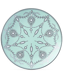 Marchesa by Lenox Empire Pearl Turquoise  Bone China Accent Plate