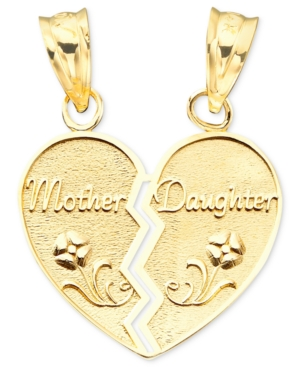 14k Gold Mother-Daughter Charm