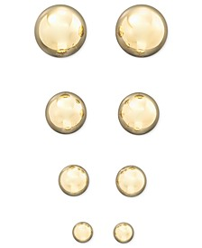14k Yellow Gold Ball Stud Earrings (4 - 10mm)