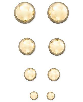 Macy S 14k Yellow Gold Ball Stud Earrings 4 10mm Earrings