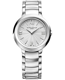 Baume & Mercier Women's Swiss Promesse Stainless Steel Bracelet Watch 30mm M0A10157